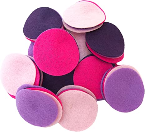 Playfully Ever After 4 Inch Pink 19pc Stiff Felt Circles