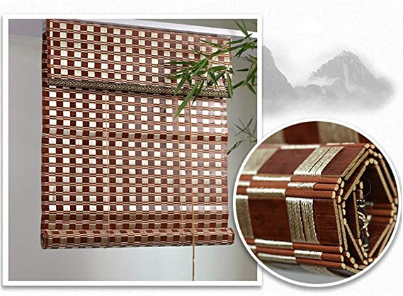 LJA Outdoor Persianas enrollables de bambú marrón Chocolate Efecto de Madera Natural Persianas venecianas for terraza Gazebo Pergola Patio Porche Cochera (Size : W 45*H 100cm): Amazon.es: Hogar