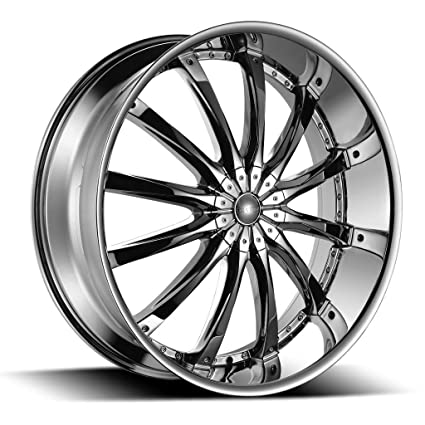 Amazon Com 22 Inch Borghini B8 Chrome Wheels Tire Package Set