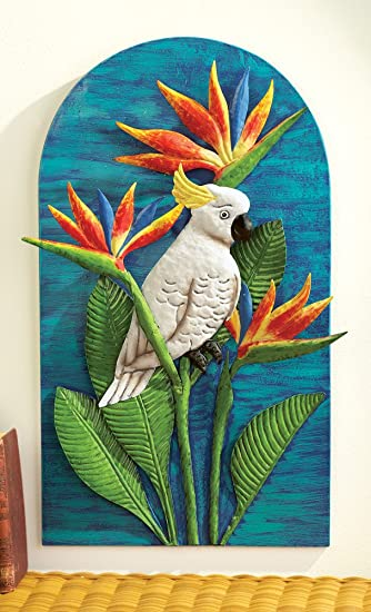 Floral Bird Of Paradise Tropical Wall Art