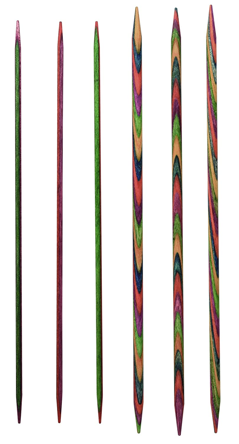 Multi-Color KnitPro 15 cm x 5.5 mm Symfonie Double Pointed Needles