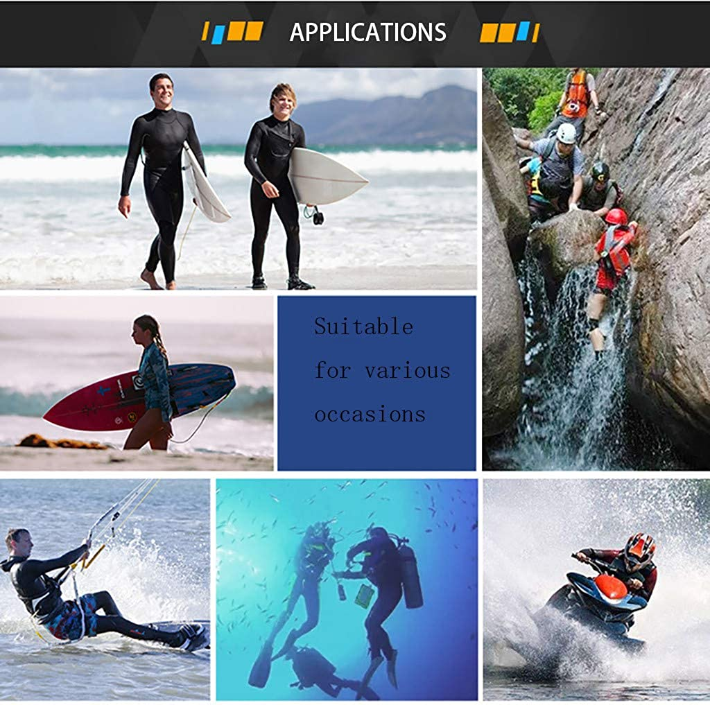 Sayolala Men Wetsuit 3mm Long Sleeve Diving Suit Tops Jacket Coat Surfing Diving Swim Bodysuit