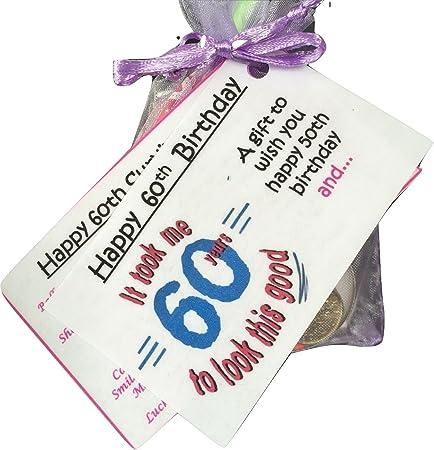 Bagsoflove Gifts 60th Birthday Survival Kit Unique Keepsake 60th Birthday Gift Novelty 60th Birthday Present Amazon Co Uk Kitchen Home