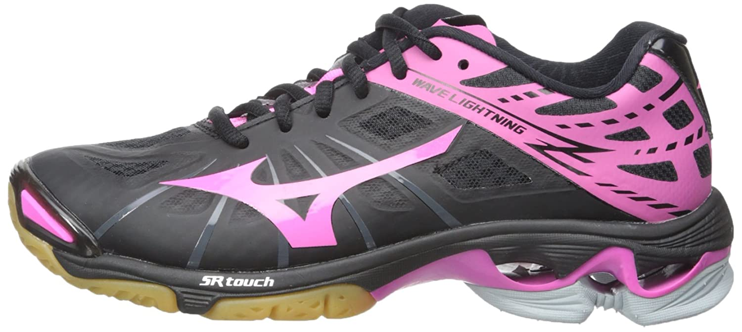 Mizuno Women's Wave Lightning Z Woms Bk-Pk Volleyball Shoe B00S3T05IC 11 D US|Black/Pink