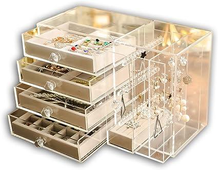 boite bijoux transparante et or