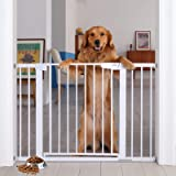 """Cumbor 46"""" Auto Close Safety Baby Gate, Extra Tall and Wide Child Gate, Easy Walk Thru Durability Dog Gate for The House…"""