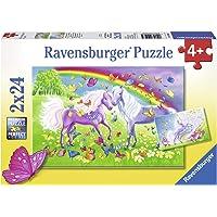 Ravensburger Rainbow Horses Puzzle 2x24pc,Children's Puzzles