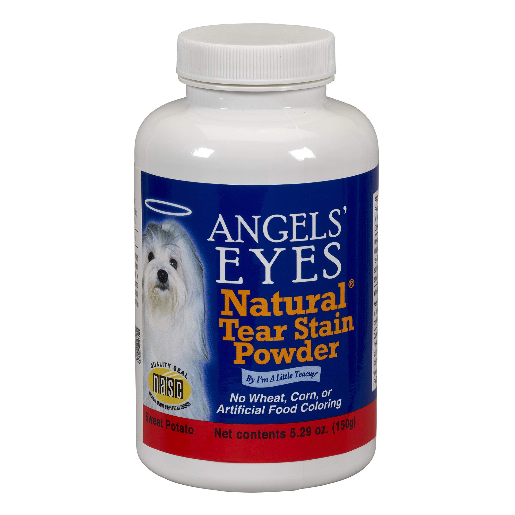 ANGELS's Eyes Natural Tear Stain Eliminator Remover, Vegetarian Recipe with Sweet Potato, 150-Gram by ANGELS' EYES