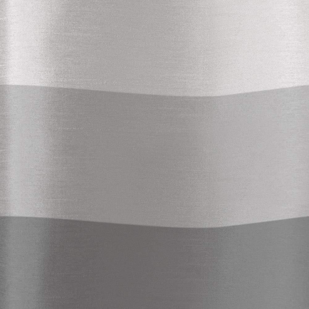 Black Pearl Polyester 54x84 Exclusive Home Vorh/änge mit Chateau Silk gestreift mit T/ülle mit Fenster Vorhang-Paar