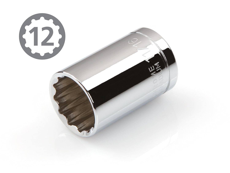 12-Point Cr-V TEKTON 14233 1//2-Inch Drive by 21 mm Shallow Socket