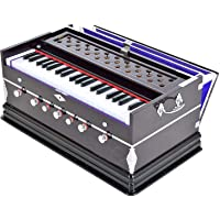 Makan Musicals Bass Reed & Male Reed Double Fold Bellow & 39 Keys, 7 Stopper 3.2 Octave Hand Pumped Harmonium (Two Fold Bellow, Male Reed)