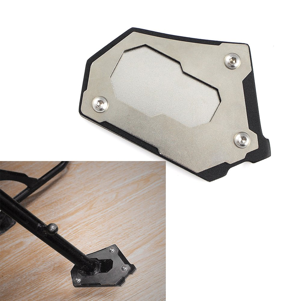 Motorcycle CNC Billet Aluminum Large Sidestand Foot Kickstand Kick stand Support Extension Plate Pad for 2013 BMW Water Cooled 2014-up R1200GS Adv Adventure