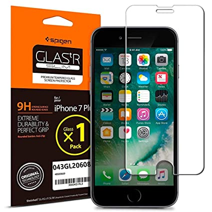 differently 19ec4 89c6d Spigen Tempered Glass Screen Protector for iPhone 7 Plus / iPhone 8 Plus -  043GL20608