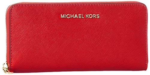 Michael Kors - Zip Around Continental, Carteras Mujer, Rot (Bright Red),