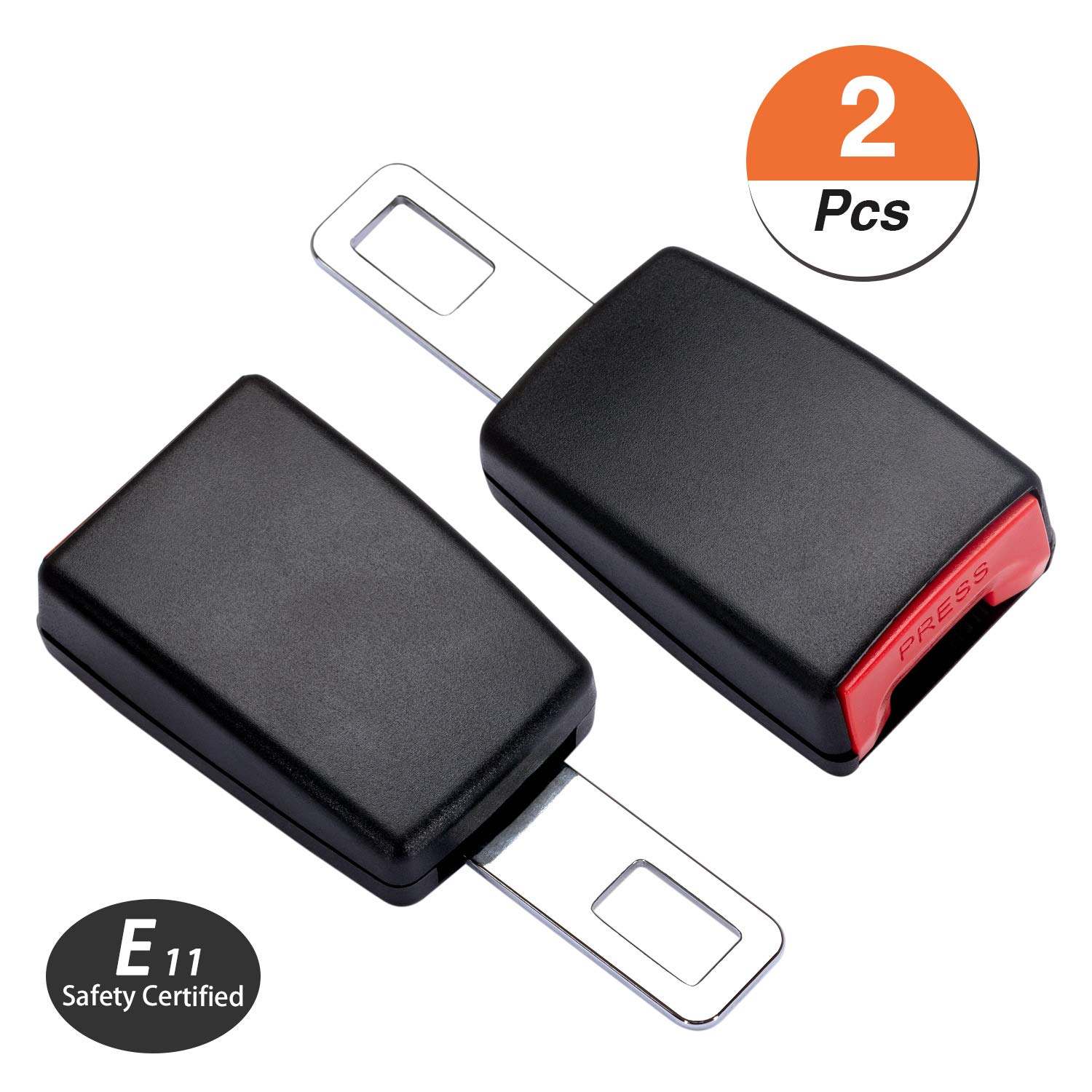 DYKEISS 2 Pack Safety Certified Universal Extension Buckle Accessory for Obese Fits Most Trucks Minivans SUV Pregnant Women Regular Belt Extender