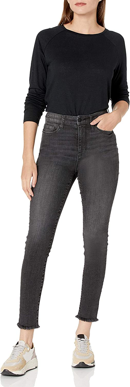 Amazon Brand - Goodthreads Women's Linen Modal Jersey Long-Sleeve Raglan T-Shirt Black