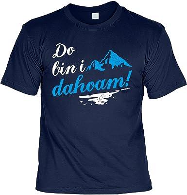 Lustige Spruche Fun Tshirt Berge Do Bin I Dahoam Mit Motiv Druck