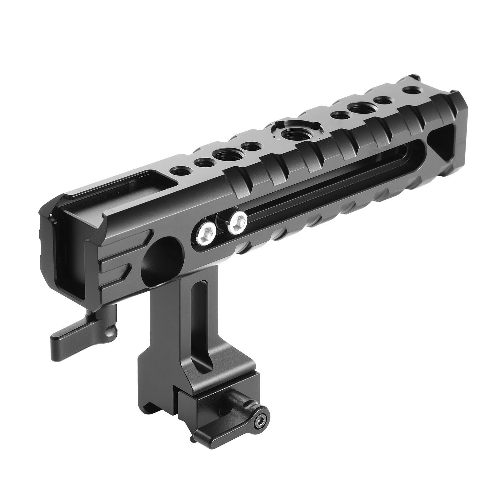 SMALLRIG QR Cheese NATO Side Handle with 15mm Rod Clamp Built-in Cold Shoe for EVF/Microphone Shock Mount- 1688 by SMALLRIG