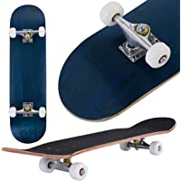COSTWAY Skateboard 80 x 20 cm | Komplettboard Ahornholz | Minicruiser 8 inch | Holzboard ABEC-7 Kugellager | Longboard Farben zur Wahl