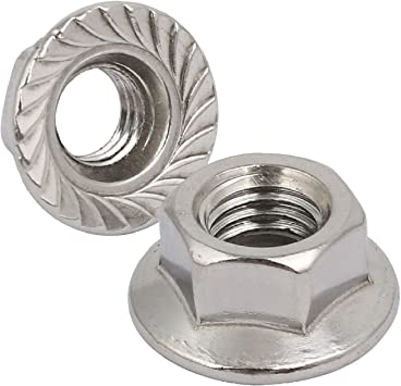 M4 STAINLESS SERRATED FLANGE NUTS FLANGED NUTS 25 PACK