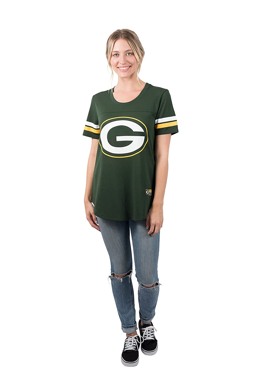 NFL Green Bay Packers Ultra Game Womens MESH S//S CREW YORK TEE X-Large Green