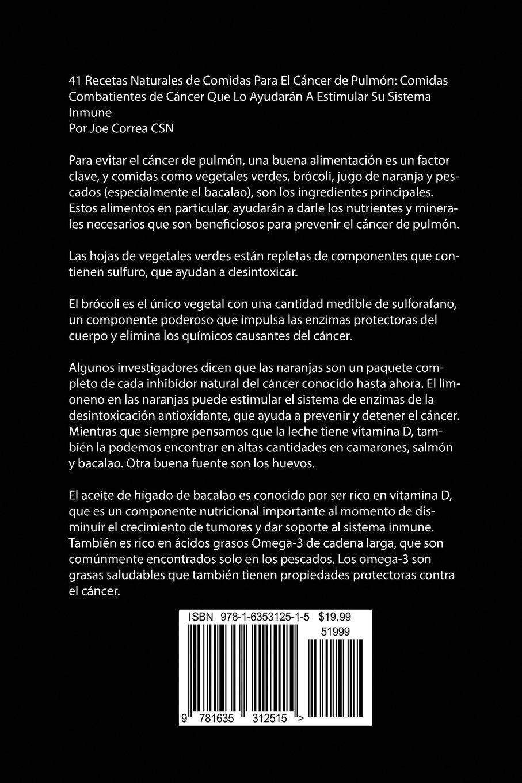 41 Recetas Naturales de Comidas Para El Cáncer de Pulmón ...
