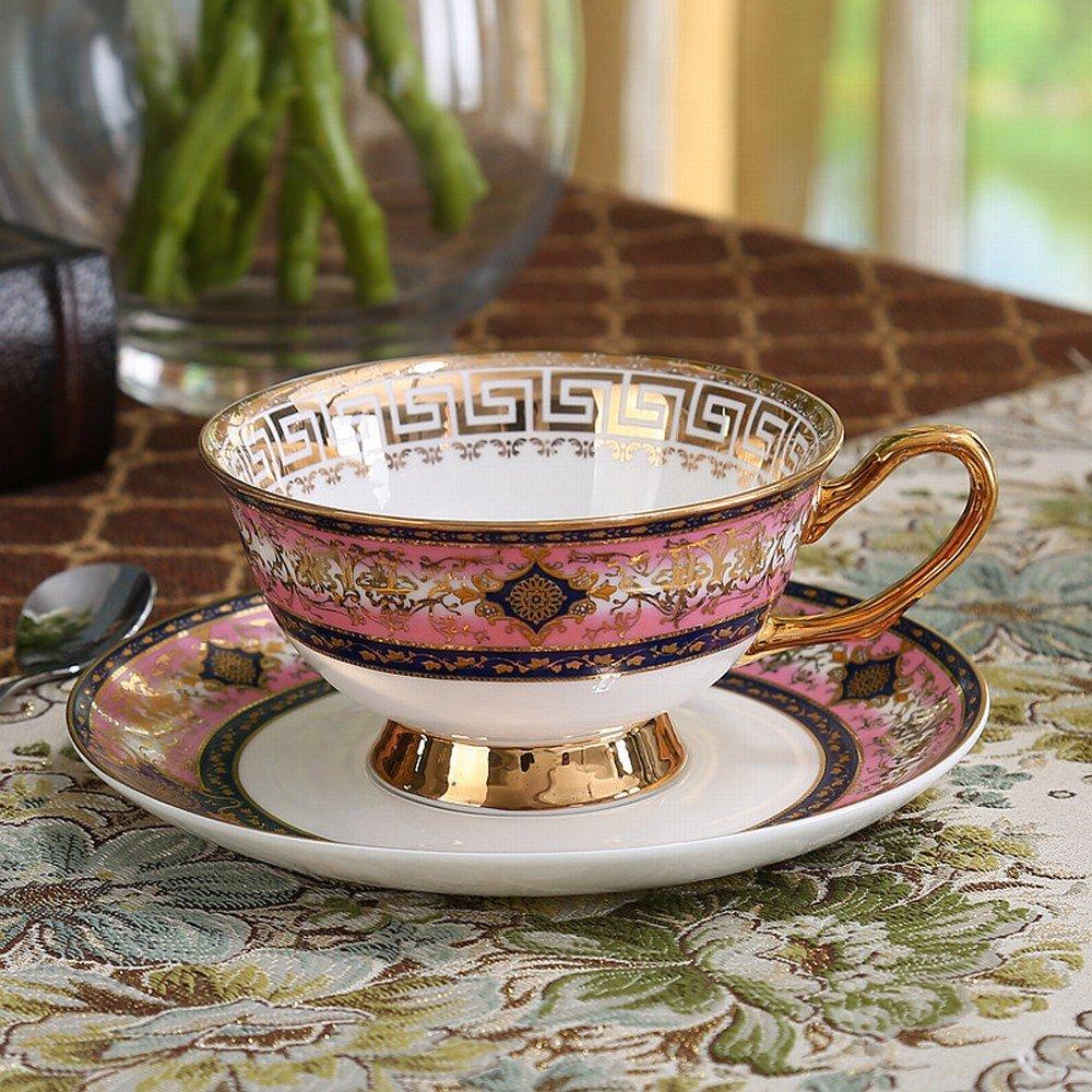 PLLP High-End European Coffee Cup Small Luxury Gold Bone China English Afternoon Tea Tea Set Home Red Tea Cup,B