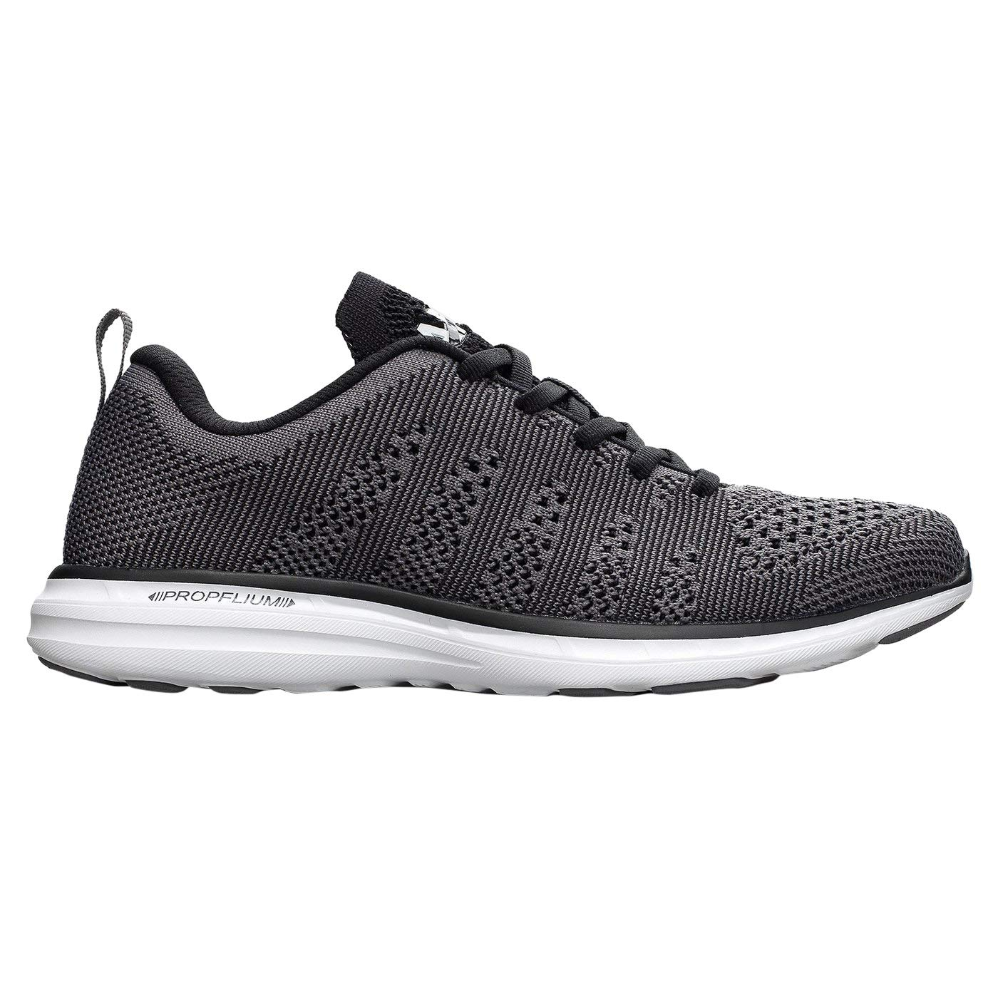 Image of APL: Athletic Propulsion Labs Men's Techloom Pro Running Sneakers, Smoke/Black/White, 10 D(M) US Road Running