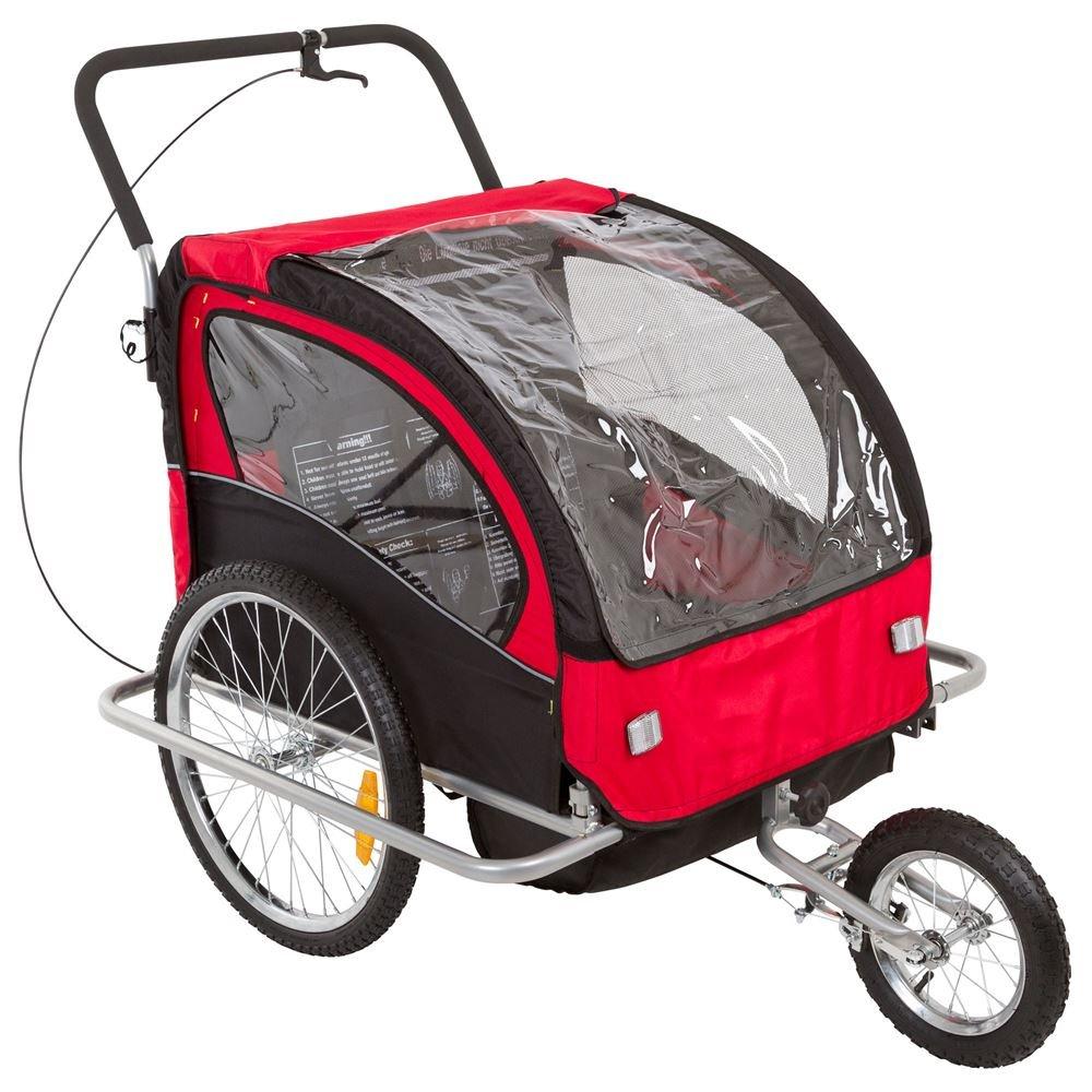 Rage Powersports BT-502 Double Kids Bike Trailer & Jogger