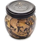 TruffleHunter Black Truffle Slices Carpaccio (2.82 Oz) Preserved in Extra Virgin Olive Oil Black Summer European Sliced Truff