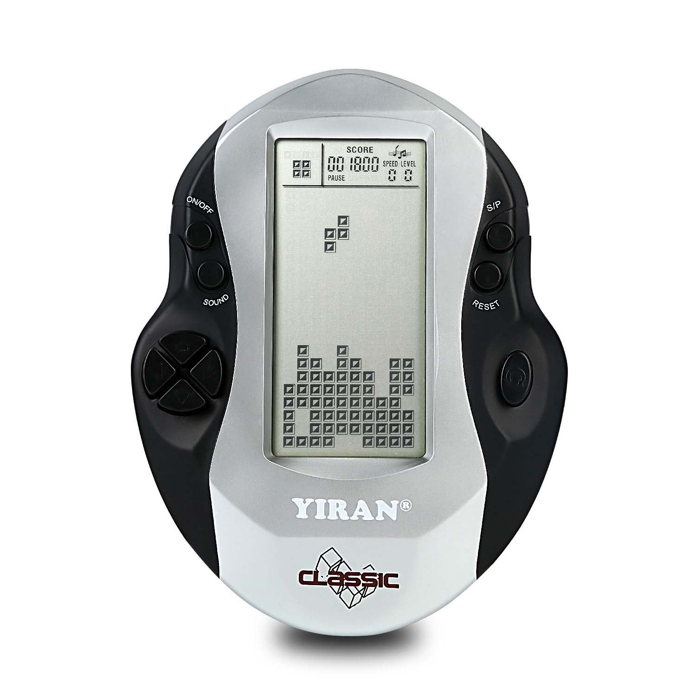 Juego clásico Tetris Consola de Juegos de Mano, Pantalla Grande, Built-in 26 Juegos, un Buen Regalo para los Juguetes educativos de los niños (Silver): ...