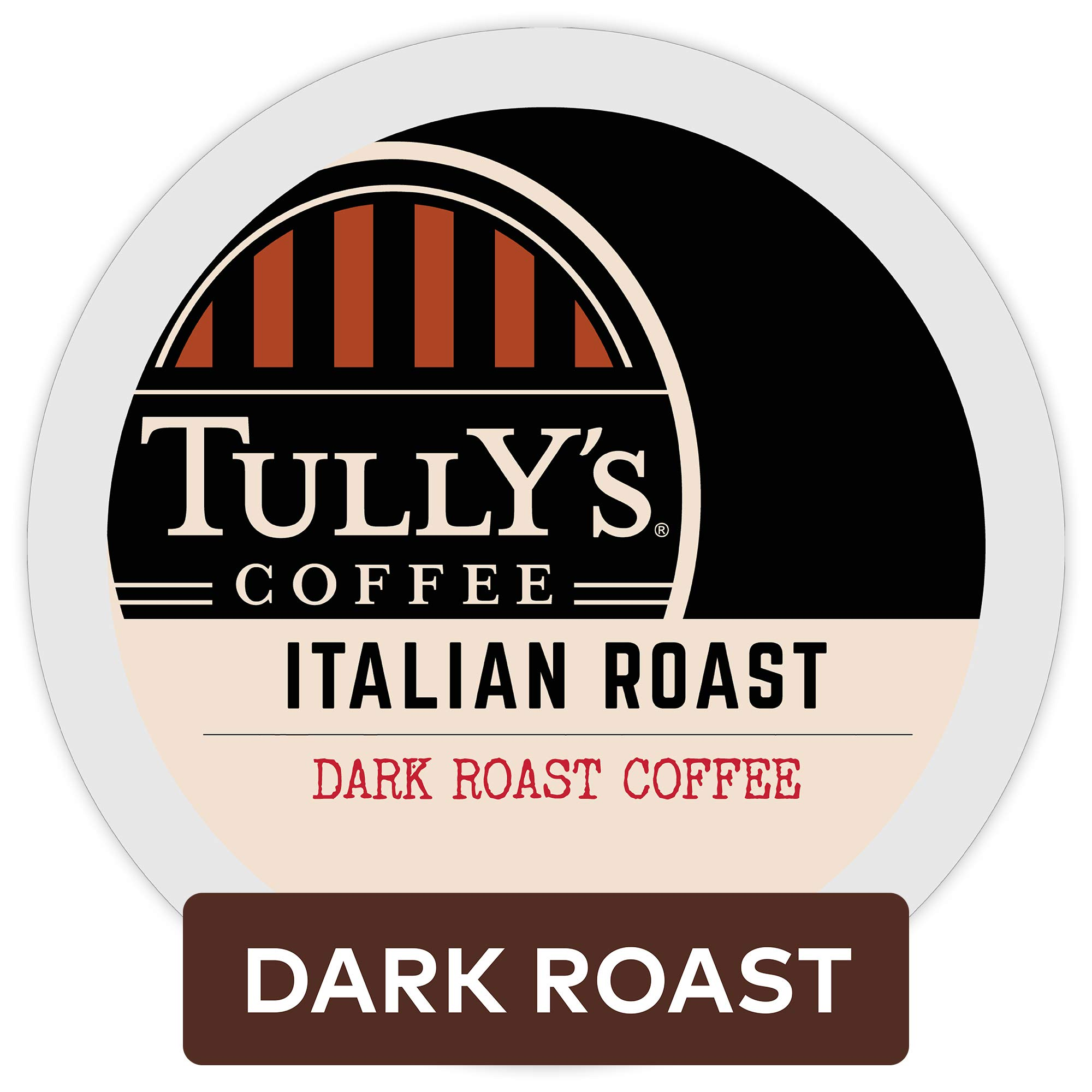 Tully's Coffee, Italian Roast, Single-Serve Keurig K-Cup Pods, Dark Roast Coffee, 96 Count (4 Boxes of 24 Pods)