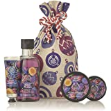 The Body Shop Festive Sack Of Rich Plum Delights, 4 Pc, 12.85 Fl Oz