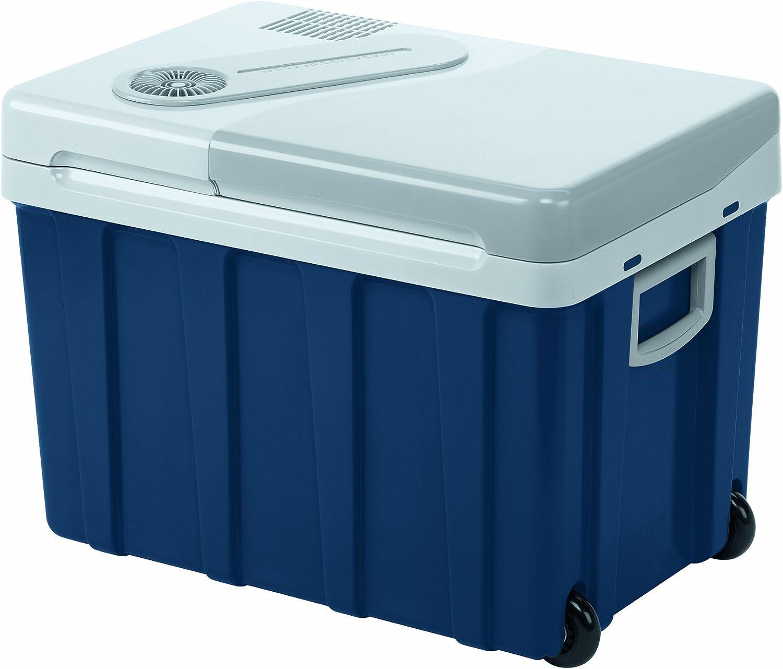 Mobicool W40 - Nevera termoeléctrica portátil, conexiones 12 / 24 / 230 V, Azul/gris, 39 litros