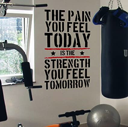 8530fea135 Amazon.com  DesignDivil Pain Today Strength Tomorrow Gym ...