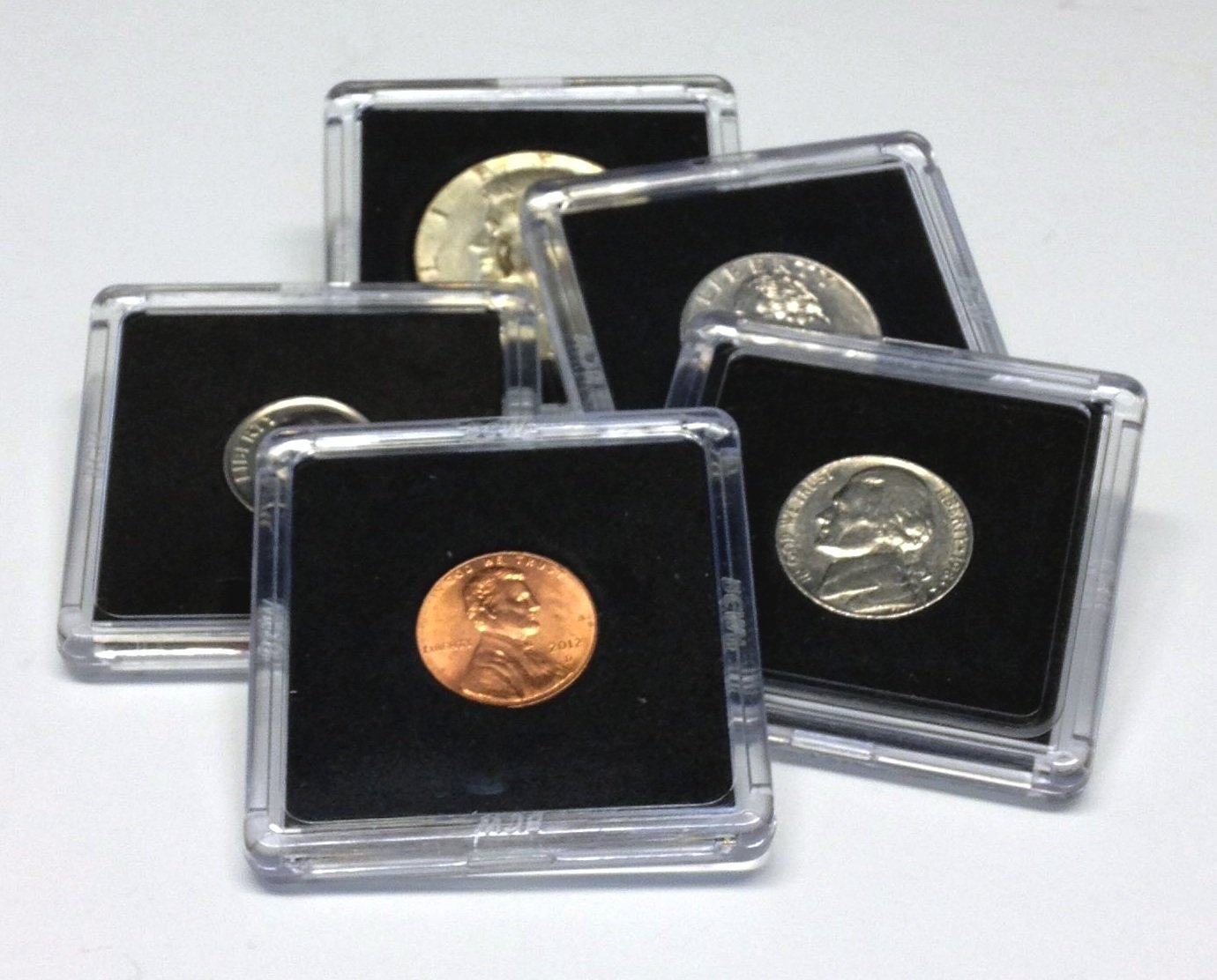 Hobbymaster 25 Assorted Coin Snap Holders, 5 Different Sizes BCW