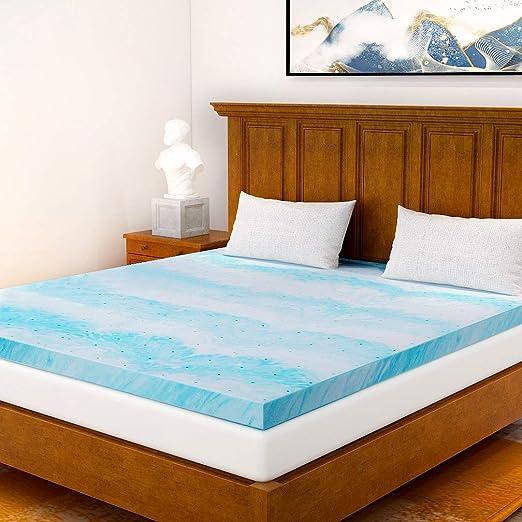 Amazon Com Milemont Mattress Topper Queen 3 Inch Cool Swirl Gel