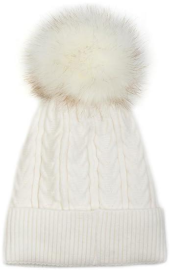 mode grand assortiment nouveau design styleBREAKER Bonnet Chaud tressé avec Pompon, Pompon en Fausse Fourrure,  Bonnet tricoté et doublé pour l'hiver, Unisexe 04024100, Couleur:Rouge