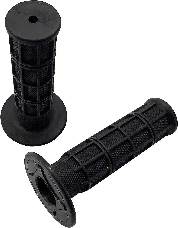 SHUmandala 7/8'' 22mm Black Handlebar Grips For ATV