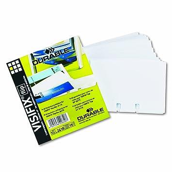 Amazon dbl241819 durable visifix double sided business card dbl241819 durable visifix double sided business card refill sleeves colourmoves