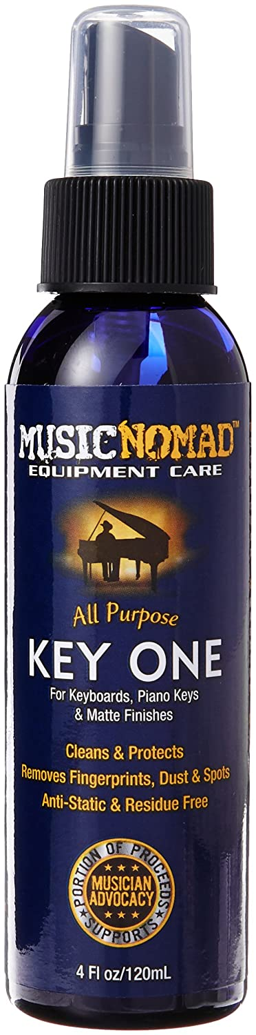 MusicNomad All Purpose Key One Cleaner for Keyboards, Keys, and Matte Piano Finishes-4 -Ounce MN131