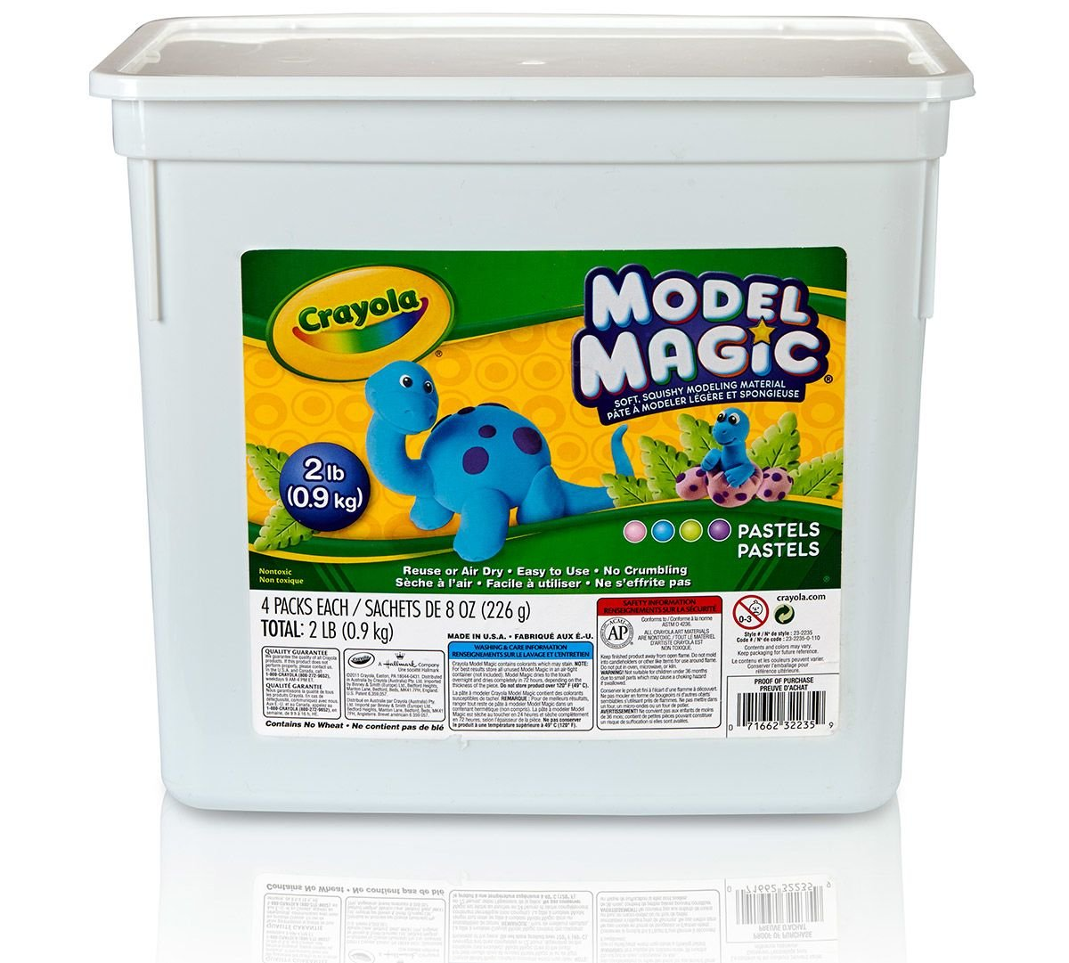 Crayola Model Magic Pastel Bucket, Easy Alternative to Modeling Clay, 2 lb, Gift for Kids