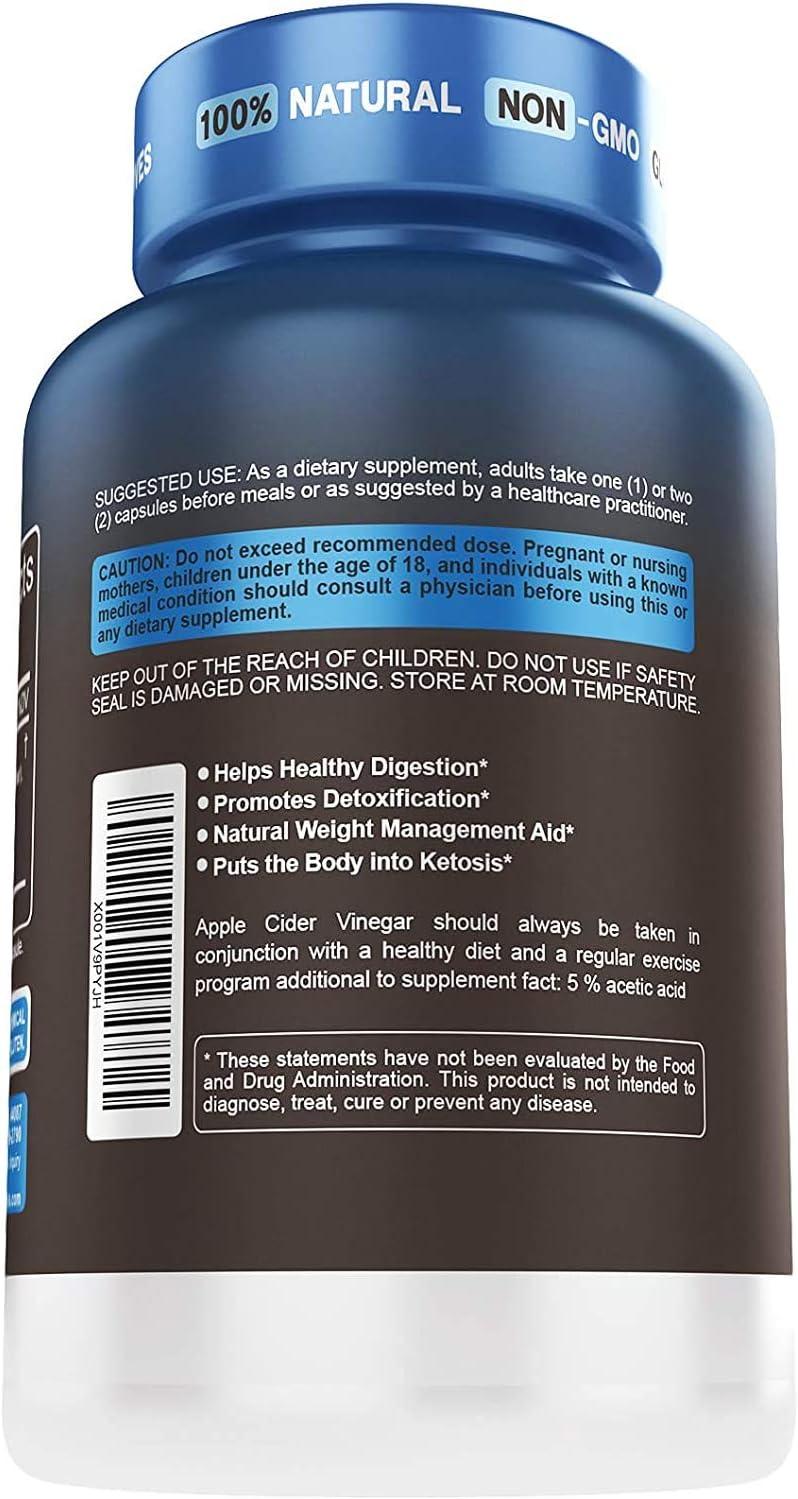 5x Potent Apple Cider Vinegar Capsules with Mother + BHB SALTS Keto Diet Pills With MCT OIL, Fat burner & Weight Loss Supplement Formula Keto Pills For Women Men Appetite Suppressant ACV Detox Support