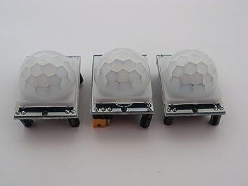 3 De HC – SR501 PIR Detector de Movimiento Module para Raspberry Pi o Arduino.