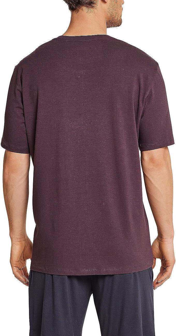 Schiesser Herren Shirt Kurzarm mit Knopfleiste Schlafanzugoberteil