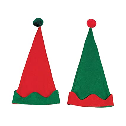 adc01a4112dcb Image Unavailable. Image not available for. Color  12 PACK - Elf Hats -  Christmas Costumes   Accessories   Costume Accessories
