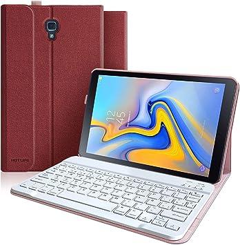 Funda con Teclado Samsung Galaxy Tab A 10.5 2018 SM-T590/T595/T597, Teclado Español (Incluye Ñ) Bluetooth Desmontable-Funda Magnética con Smart Auto ...