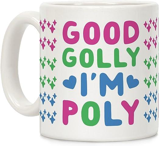 LookHUMAN Varsity Reading Team White 15 Ounce Ceramic Coffee Mug