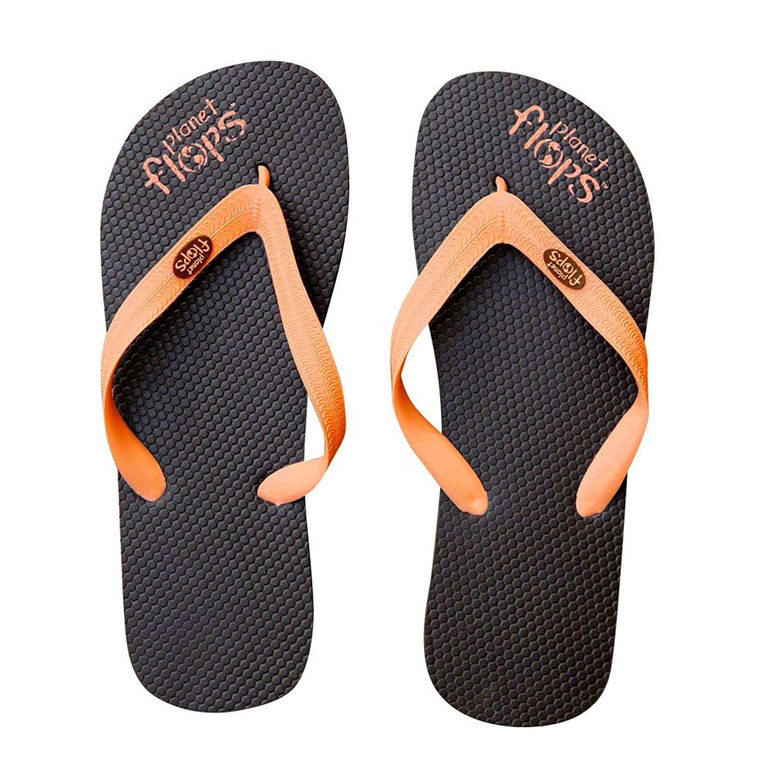 Chocolate Orange (Brown/Orange) Flip-Flops: Incredibly Comfortable Eco-Chic Brazilian Natural Rubber Flip-Flops.