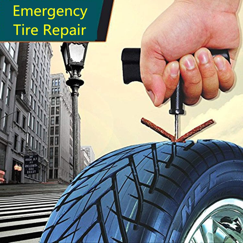CICMOD 50 pcs Kit de Mecha Pinchazos para Reparación Neumáticos de ...